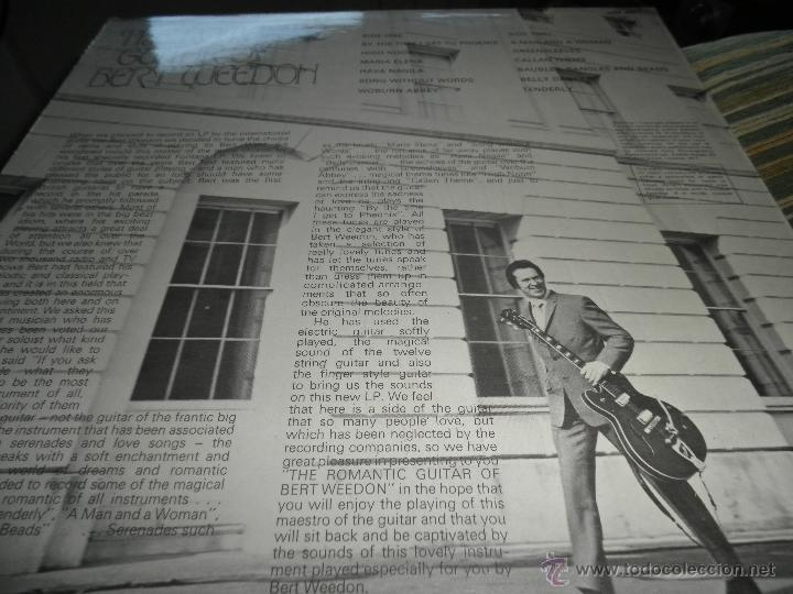 Discos de vinilo: BERT WEEDON - THE ROMANTIC GUITAR LP - ORIGINAL INGLES - FONTANA RECORDS 1970 - STEREO - - Foto 8 - 43923269