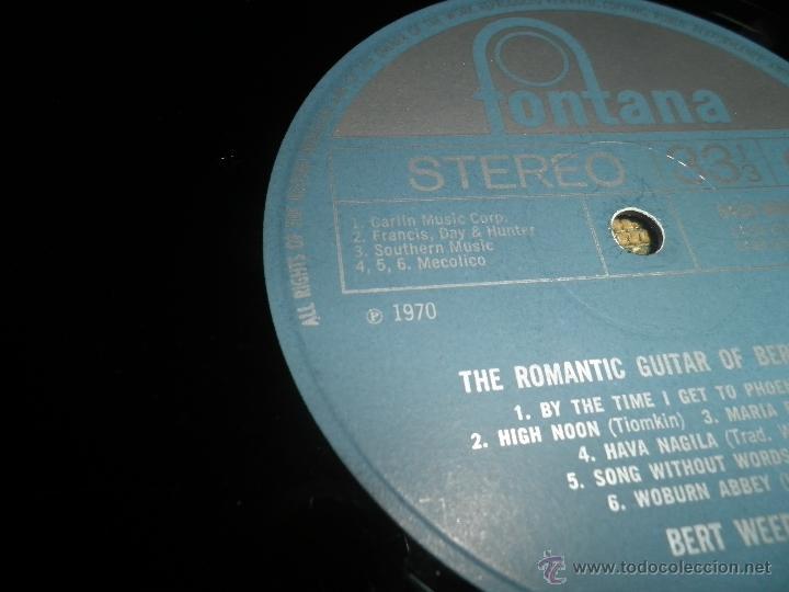 Discos de vinilo: BERT WEEDON - THE ROMANTIC GUITAR LP - ORIGINAL INGLES - FONTANA RECORDS 1970 - STEREO - - Foto 12 - 43923269