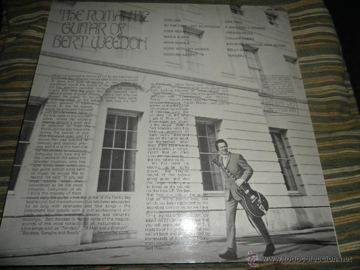 Discos de vinilo: BERT WEEDON - THE ROMANTIC GUITAR LP - ORIGINAL INGLES - FONTANA RECORDS 1970 - STEREO - - Foto 20 - 43923269