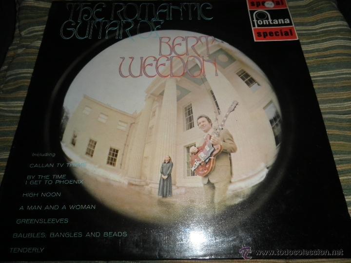 Discos de vinilo: BERT WEEDON - THE ROMANTIC GUITAR LP - ORIGINAL INGLES - FONTANA RECORDS 1970 - STEREO - - Foto 21 - 43923269