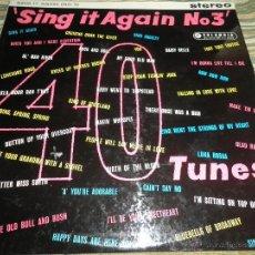 Discos de vinilo: SING IT AGAIN Nº 3. LP - VARIOUS ARTISTS - ORIGINAL INGLES - COLUMBIA RECORDS 1960 - STEREO -. Lote 43923481