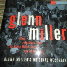 Discos de vinilo: GLENN MILLER - PLAYS SELECTIONS FROM THE GLENN MILLER STORY LP - ORIGINAL INGLES - RCA 1956 EN MONO. Lote 43924081