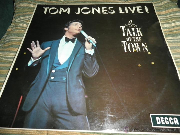 TOM JONES - AT TALK OF THE TOWN LP - ORIGINAL INGLES - DECCA RECORDS 1967 UNBOXED RED LABEL MONO (Música - Discos - LP Vinilo - Pop - Rock Extranjero de los 50 y 60)