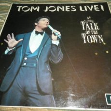 Discos de vinilo: TOM JONES - AT TALK OF THE TOWN LP - ORIGINAL INGLES - DECCA RECORDS 1967 UNBOXED RED LABEL MONO. Lote 43924653