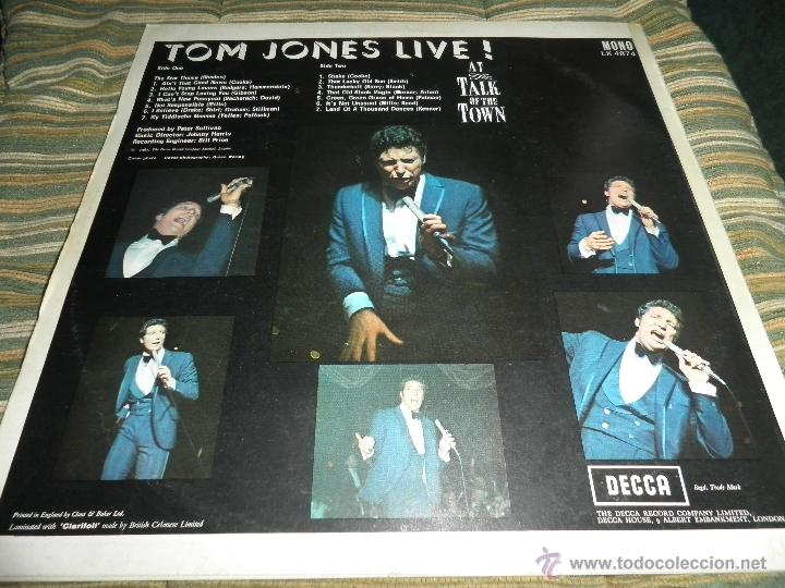 Discos de vinilo: TOM JONES - AT TALK OF THE TOWN LP - ORIGINAL INGLES - DECCA RECORDS 1967 UNBOXED RED LABEL MONO - Foto 2 - 43924653