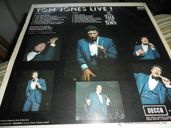 Discos de vinilo: TOM JONES - AT TALK OF THE TOWN LP - ORIGINAL INGLES - DECCA RECORDS 1967 UNBOXED RED LABEL MONO - Foto 9 - 43924653