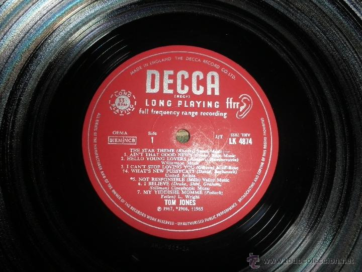 Discos de vinilo: TOM JONES - AT TALK OF THE TOWN LP - ORIGINAL INGLES - DECCA RECORDS 1967 UNBOXED RED LABEL MONO - Foto 12 - 43924653