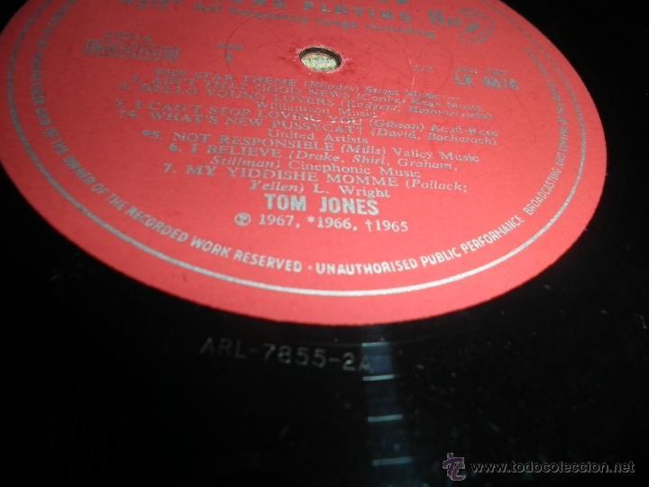 Discos de vinilo: TOM JONES - AT TALK OF THE TOWN LP - ORIGINAL INGLES - DECCA RECORDS 1967 UNBOXED RED LABEL MONO - Foto 14 - 43924653