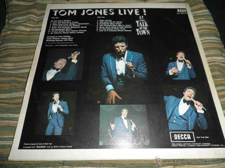 Discos de vinilo: TOM JONES - AT TALK OF THE TOWN LP - ORIGINAL INGLES - DECCA RECORDS 1967 UNBOXED RED LABEL MONO - Foto 19 - 43924653