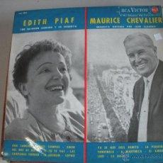 Discos de vinilo: MAGNIFICO LP DE - EDITH PIAF Y MAURICE CHEVALIER -. Lote 43927830