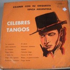 Discos de vinilo: MAGNIFICO LP DE - CELEBRES DEL TANGO -. Lote 43927837