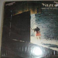 Discos de vinilo: MAGNIFICO LP DE - YAZOO -. Lote 43928341