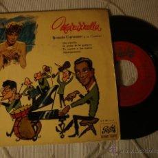 Discos de vinilo: DISCO SINGLE EP 4 CANCIONES RENATO CAROSONE Y SU CUARTETO AÑOS 50/60. Lote 43930690