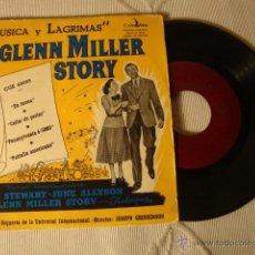 Discos de vinilo: DISCO SINGLE EP 4 CANCIONES GLENN MILLER STORY MUSICA Y LAGRIMAS AÑOS 50/60. Lote 43930787