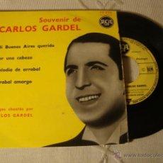 Discos de vinilo: DISCO SINGLE EP 4 CANCIONES CARLOS GARDEL AÑOS 50/60. Lote 43935665