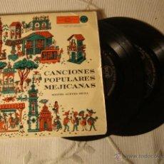 Discos de vinilo: 2 DISCOS SINGLE EP 8 CANCIONES MEJICANAS AÑOS 50/60. Lote 43935679