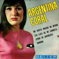 Discos de vinilo: ARGENTINA CORAL - ME GUSTA MUCHO MI NEGRA. Lote 43935769