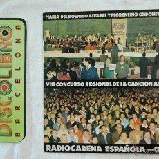 Disques de vinyle: VIII CONCURSO REGIONAL DE LA CANCIÓN ASTURIANA - RADIO CADENA ESPAÑOLA - OVIEDO - LP 1982. Lote 43936966