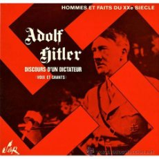 Discos de vinilo: ADOLF HITLER, DISCO LP, AÑO 1970 CON SUS DISCURSOS,EDITADO EN FRANCIA,FOTOS Y FIRMA III REICH,NAZI. Lote 43948208