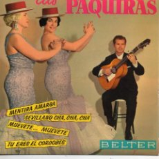 Discos de vinilo: PAQUIRAS, EP, MENTIRA AMARGA + 3, AÑO 1962. Lote 43950079