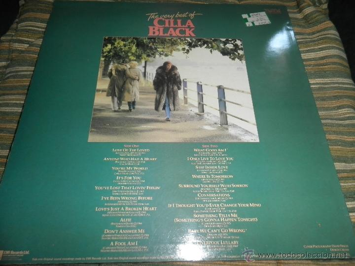 Discos de vinilo: CILLA BLACK - THE VERY BEST OF LP - EDICION INGLESA - PARLOPHONE/EMI RECORDS 1983 - STEREO - - Foto 2 - 43952104