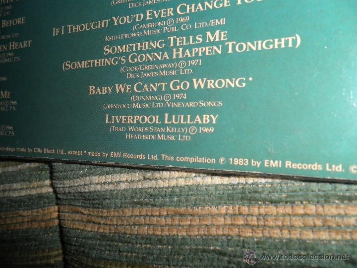 Discos de vinilo: CILLA BLACK - THE VERY BEST OF LP - EDICION INGLESA - PARLOPHONE/EMI RECORDS 1983 - STEREO - - Foto 4 - 43952104