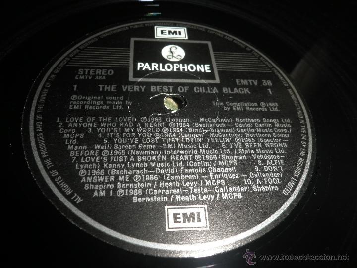 Discos de vinilo: CILLA BLACK - THE VERY BEST OF LP - EDICION INGLESA - PARLOPHONE/EMI RECORDS 1983 - STEREO - - Foto 11 - 43952104