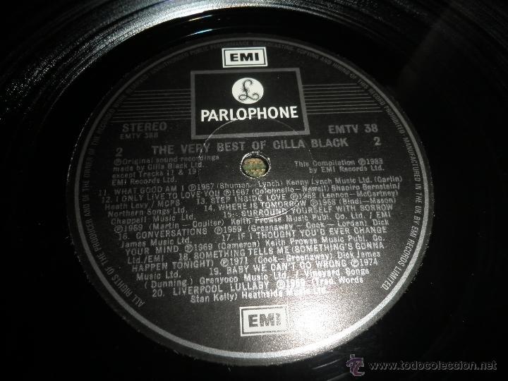 Discos de vinilo: CILLA BLACK - THE VERY BEST OF LP - EDICION INGLESA - PARLOPHONE/EMI RECORDS 1983 - STEREO - - Foto 15 - 43952104