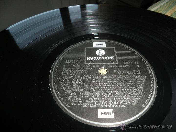 Discos de vinilo: CILLA BLACK - THE VERY BEST OF LP - EDICION INGLESA - PARLOPHONE/EMI RECORDS 1983 - STEREO - - Foto 17 - 43952104