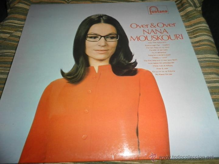 NANA MOUSKOURI - OVER & OVER LP - ORIGINAL INGLES - FONTANA RECORDS 1969 - STEREO - (Música - Discos - LP Vinilo - Cantautores Extranjeros)