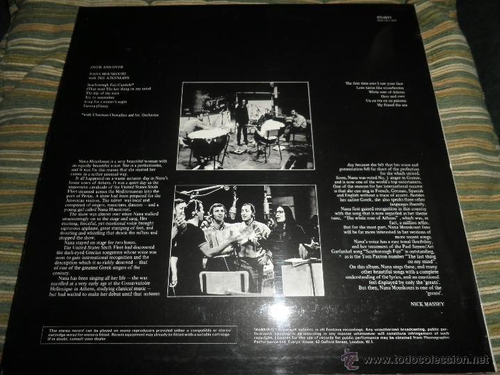 Discos de vinilo: NANA MOUSKOURI - OVER & OVER LP - ORIGINAL INGLES - FONTANA RECORDS 1969 - STEREO - - Foto 2 - 43953762