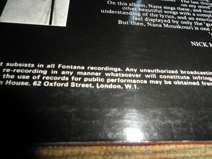 Discos de vinilo: NANA MOUSKOURI - OVER & OVER LP - ORIGINAL INGLES - FONTANA RECORDS 1969 - STEREO - - Foto 3 - 43953762