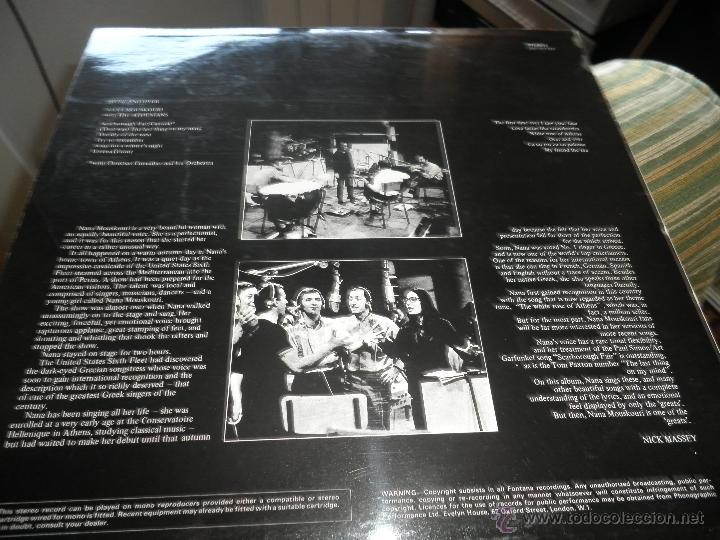 Discos de vinilo: NANA MOUSKOURI - OVER & OVER LP - ORIGINAL INGLES - FONTANA RECORDS 1969 - STEREO - - Foto 9 - 43953762