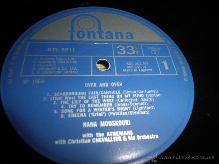 Discos de vinilo: NANA MOUSKOURI - OVER & OVER LP - ORIGINAL INGLES - FONTANA RECORDS 1969 - STEREO - - Foto 13 - 43953762