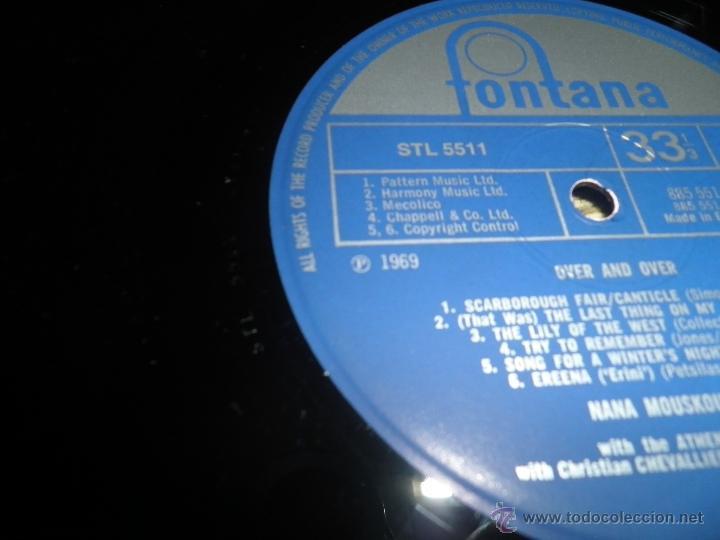 Discos de vinilo: NANA MOUSKOURI - OVER & OVER LP - ORIGINAL INGLES - FONTANA RECORDS 1969 - STEREO - - Foto 14 - 43953762