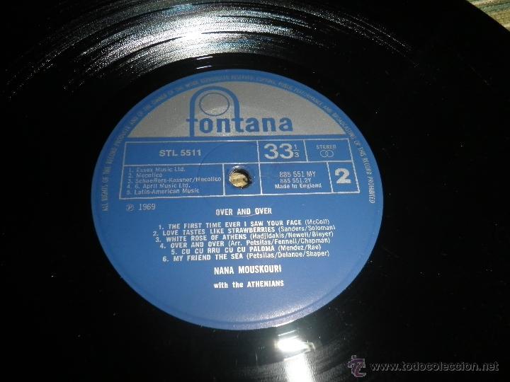 Discos de vinilo: NANA MOUSKOURI - OVER & OVER LP - ORIGINAL INGLES - FONTANA RECORDS 1969 - STEREO - - Foto 17 - 43953762