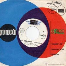 Discos de vinilo: LOS SERENADE Y BERNARDINO / HIMNO A VALENCIA / EL FALLERO / SINGLE 1972. Lote 43954567
