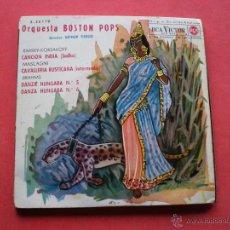 Discos de vinilo: ORQUESTA BOSTON POPS - CANCIÓN INDIA (SADKO) - EP RCA VICTOR - 3-26179 - SPAIN 1962. Lote 43958165