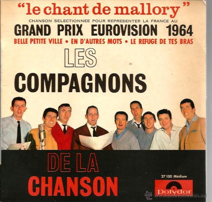 EP LES COMPAGNONS DE LA CHANSON : EUROVISION 1964 (Música - Discos de Vinilo - Maxi Singles - Festival de Eurovisión)