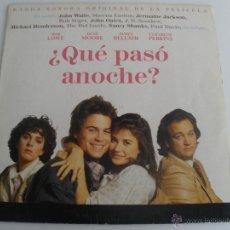 Discos de vinilo: BANDA SONORA ORIGINAL QUE PASO ANOCHE. Lote 213371381