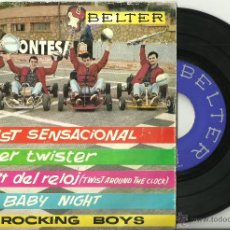 Discos de vinilo: THE ROCKING BOYS TWIST SENSACIONAL + MR. TWISTER + TWIST ALREDEDOR DEL RELOJ EP BELTER 1962 @ TWIST. Lote 33746283