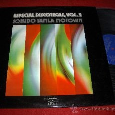 Discos de vinilo: ESPECIAL DISCOTECAS VOL. 3 - SONIDO TAMLA MOTOWN (1974) MÚSICA SIN PAUSA - NON STOP MUSIC. Lote 43988303
