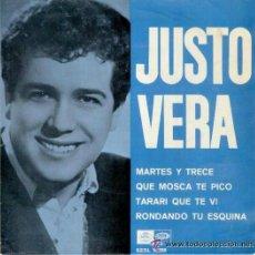 Discos de vinilo: JUSTO VERA - MARTES Y TRECE + 3 - EP 1967 . Lote 43992553