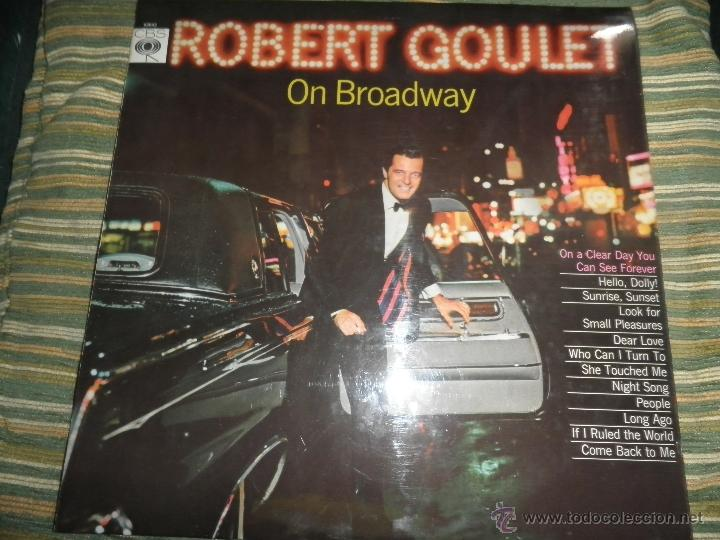 ROBERT GOULET - ON BROADWAY LP - ORIGINAL INGLES - CBS RECORDS 1966 EN STEREO - (Música - Discos - LP Vinilo - Cantautores Extranjeros)