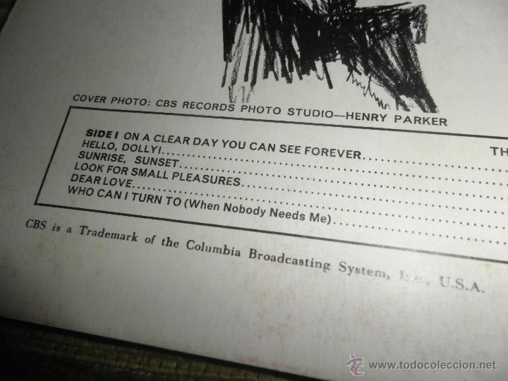 Discos de vinilo: ROBERT GOULET - ON BROADWAY LP - ORIGINAL INGLES - CBS RECORDS 1966 EN STEREO - - Foto 3 - 44002395
