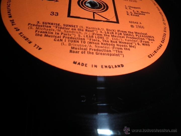 Discos de vinilo: ROBERT GOULET - ON BROADWAY LP - ORIGINAL INGLES - CBS RECORDS 1966 EN STEREO - - Foto 11 - 44002395