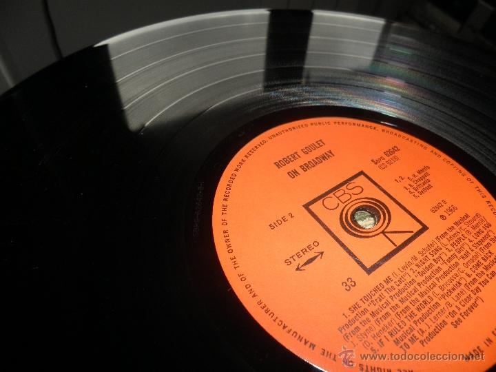 Discos de vinilo: ROBERT GOULET - ON BROADWAY LP - ORIGINAL INGLES - CBS RECORDS 1966 EN STEREO - - Foto 15 - 44002395