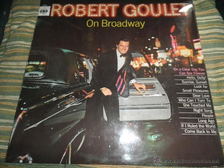Discos de vinilo: ROBERT GOULET - ON BROADWAY LP - ORIGINAL INGLES - CBS RECORDS 1966 EN STEREO - - Foto 17 - 44002395