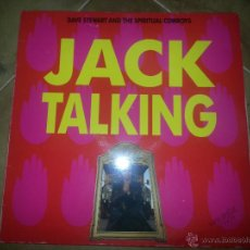 Discos de vinilo: DAVE STEWART AND THE SPIRITUAL COWBOYS ( COMPONENTE DE EURYTHMICS) JACK TALKING MAXISINGLE. Lote 44007587