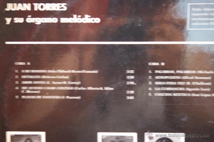 Discos de vinilo: JUAN TORRES Y SU ORGANO MELODICO - Foto 2 - 44008438